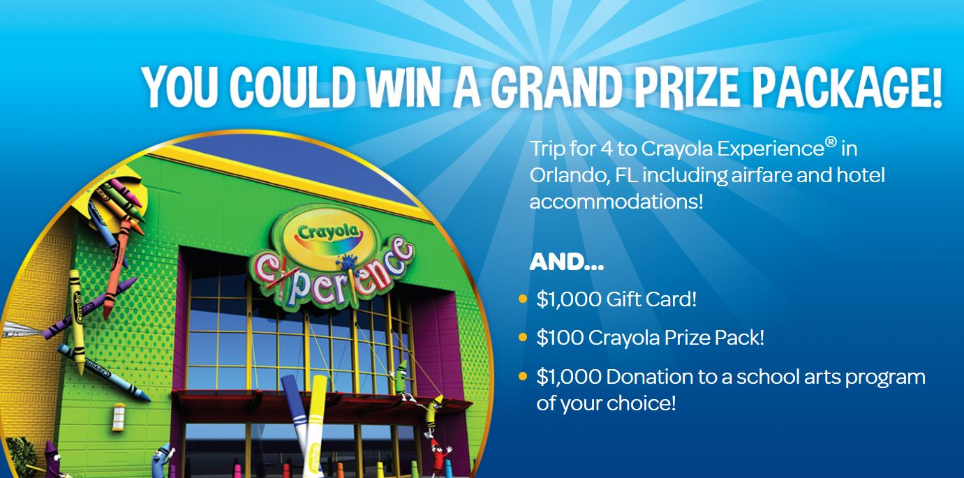 crayola name the new colour contest win daily prizes and a trip