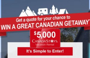 Vacation contests and giveaways canada
