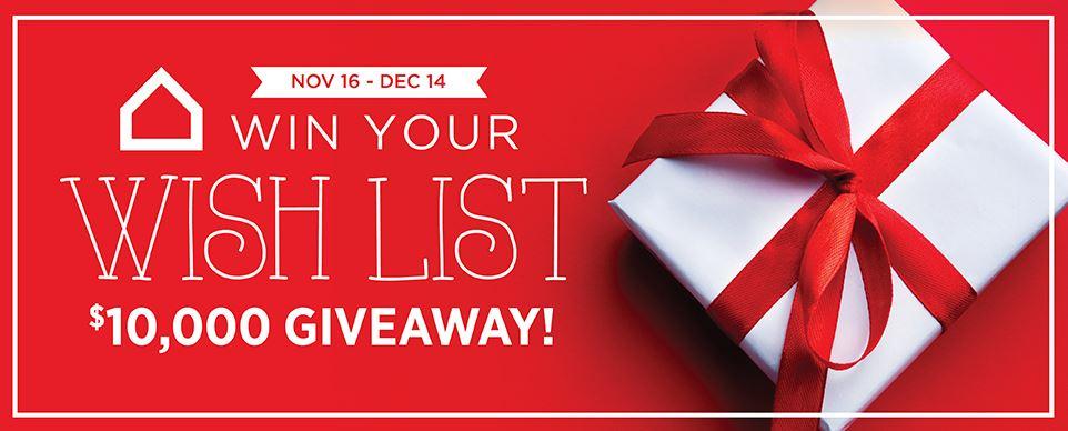 Ashley Homestore Win Your Wishlist Giveaway Win Wish List