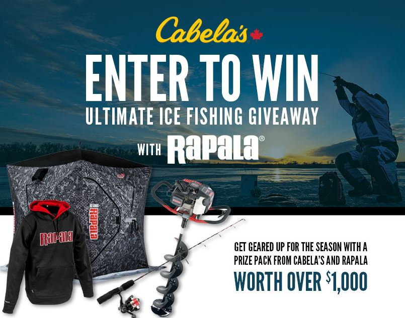 Cabela 39 s and rapala contest win the ultimate ice fishing for Cabela s ice fishing