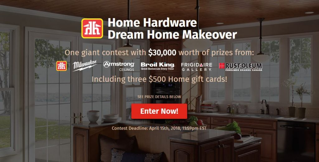 Home Hardware Dream Home Makeover Contest Win 30 000 Worth Of Prizes At Dreamcontests Ca