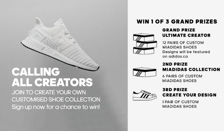 5eaad8c546e5 Adidas Creators Contest  Win up to 12 pairs of custom Adidas Shoes