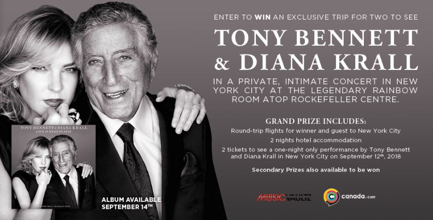 Canada com Contest: Win a trip to see Tony Bennett and Diana