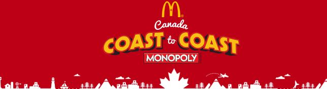 mcdonalds coast to coast monopoly 2018 promotion enter. Black Bedroom Furniture Sets. Home Design Ideas