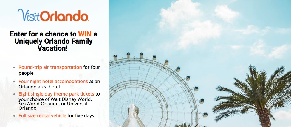 The Weather Network My Orlando Vacation Contest: Win a Uniquely