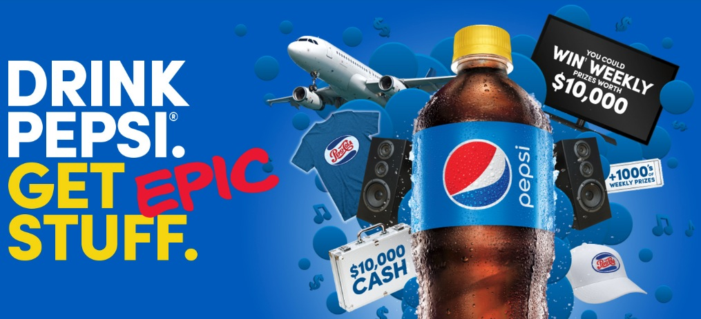 Pepsi Stuff Contest 2019: Enter your code and win 1 of 16