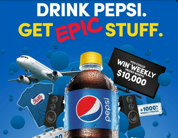 Pepsi Stuff Promotion: Enter your code and win weekly prizes