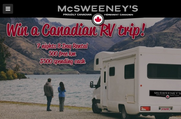 McSweeney's Contest 2019: Win a Canadian RV Trip at