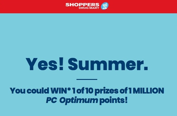 shoppersdrugmart ca summercontest for a chance to win