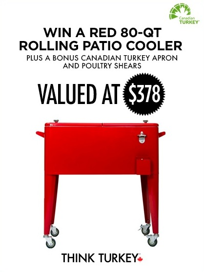 Patio Rolling Cooler Cart: Canadian Turkey Contest: Win A Red 80-qt Rolling Patio