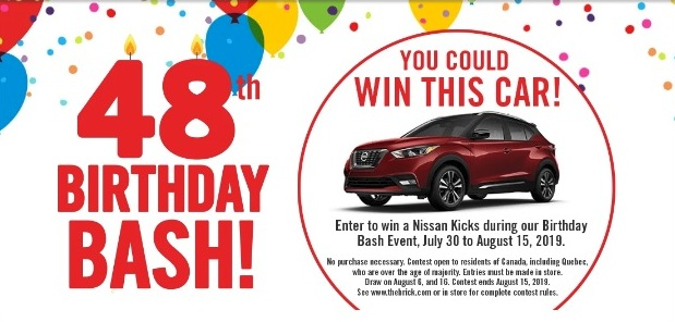 The Brick's 48th Birthday Bash Contest: Win one of two 2019